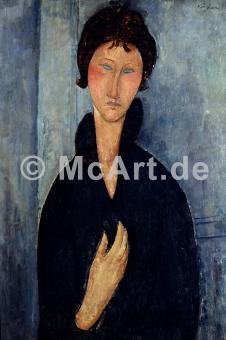 Frau mit blauen Augen -