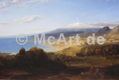 Taormina mit dem Aetna -