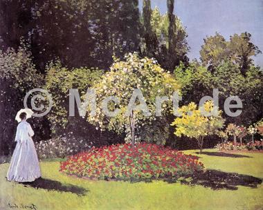Dame im Garten -