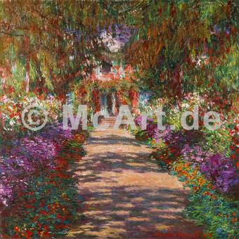 Weg in Monets Garten in Giverny -