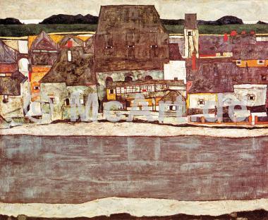 Häuser am Fluss II -