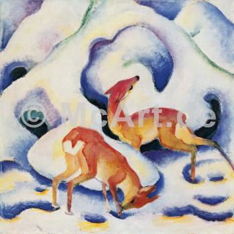 Rehe im Schnee -