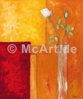 Rosen auf warmem Rot -