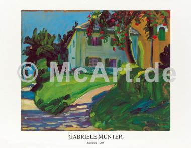Sommer 1908 (Haus mit Apfelbaum)