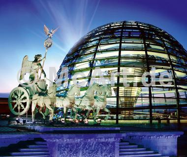 Reichstagkuppel mit Quadriga -