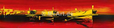 Tre barche nel rosso II
