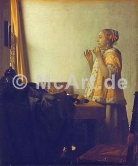 Junge Dame mit Perlenhalsband -