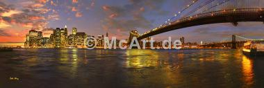 New York City at sunset -