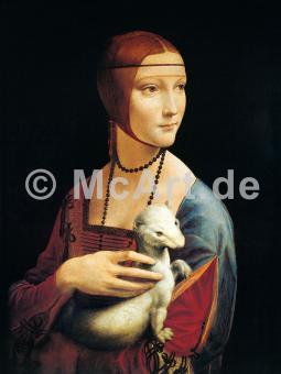 Frau mit Hermelin -
