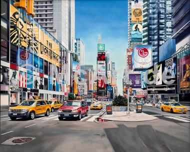 Times Square Reflections -
