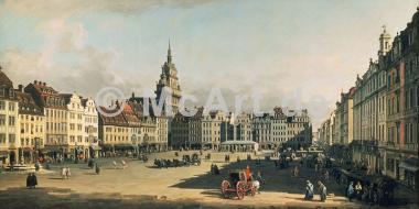 Der Alte Markt in Dresden -