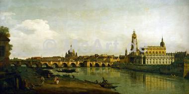 Dresden, Blick vom Elbe-Ufer... -