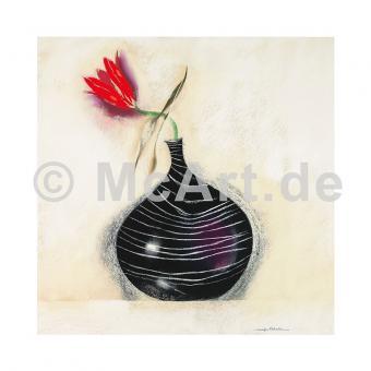 Tulpen in schwarzer Vase II