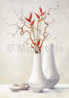Willow Twigs with Red Flowers