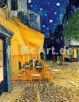 Café-Terrasse am Abend -